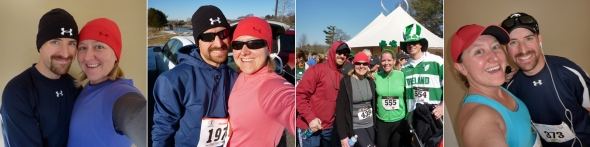 L to R: January (Hangover Classic 10K), February (Mid-Winter Classic 10-Miler), March (Paddy's 5-Miler) and April (Great Bay Half Marathon)