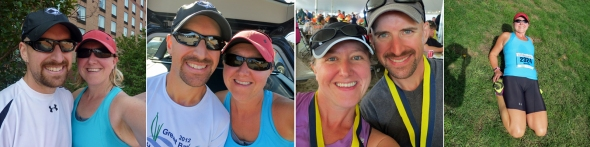 L to R: May (CVKA Memorial Day 10K), July (Nate's Race 5K), September (Reach the Beach), and October (Tufts 10K for Women)